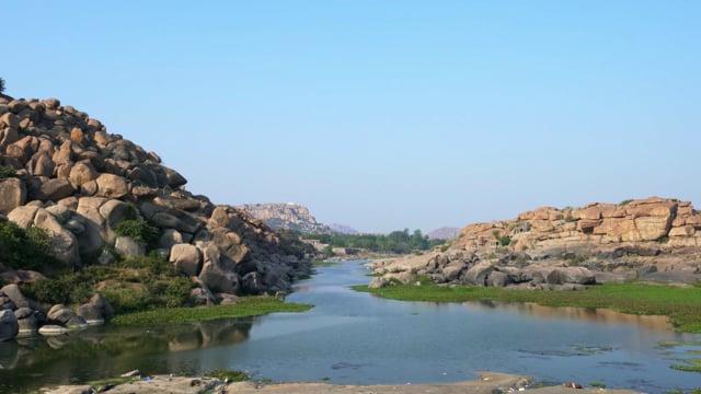 Thungabhadra River in Hampi